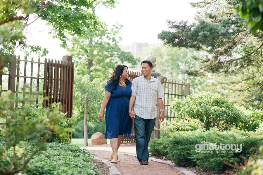 lissa&rick engaged // osaka garden, chicago