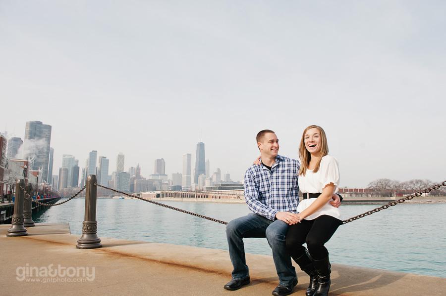 Courtney Amp Joe Engaged Navy Pier Chicago