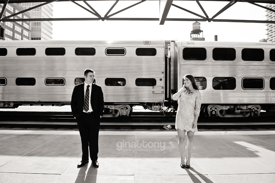 chicago engagement session, chicago board of trade engagement session, paperman engagement session