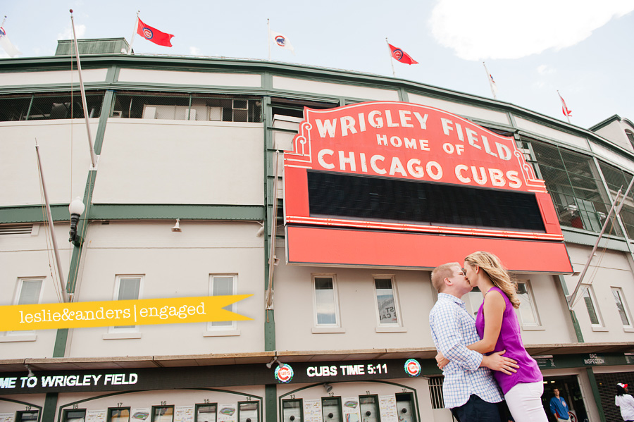 chicago engagement photographers, wrigley field engagement session, belmont harbor engagement session