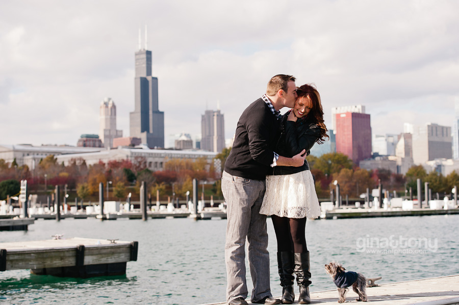 chicago engagement photographers, chicago engagement session, burnham harbor engagement session