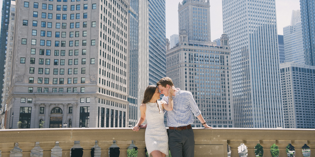 stephanie + mitch | engaged // chicago riverwalk engagement session