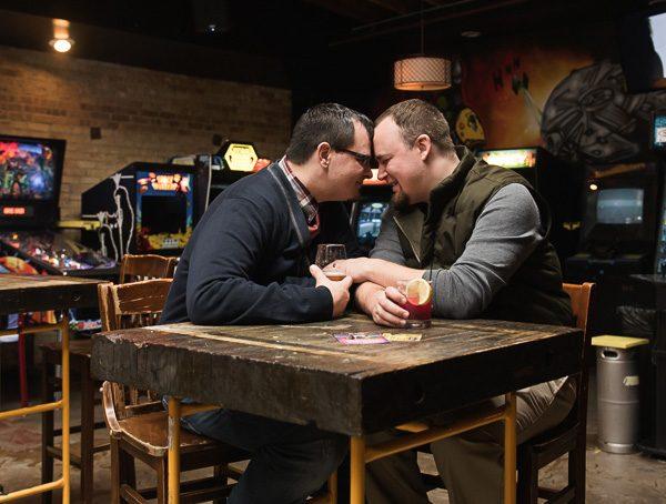 joe + trevor | engaged // chicago winter engagement session