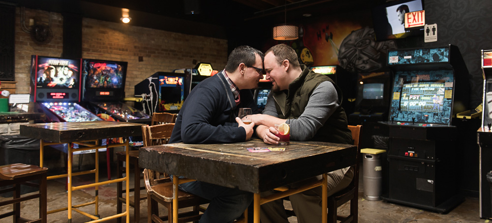 joe + trevor | engaged // chicago winter engagement session