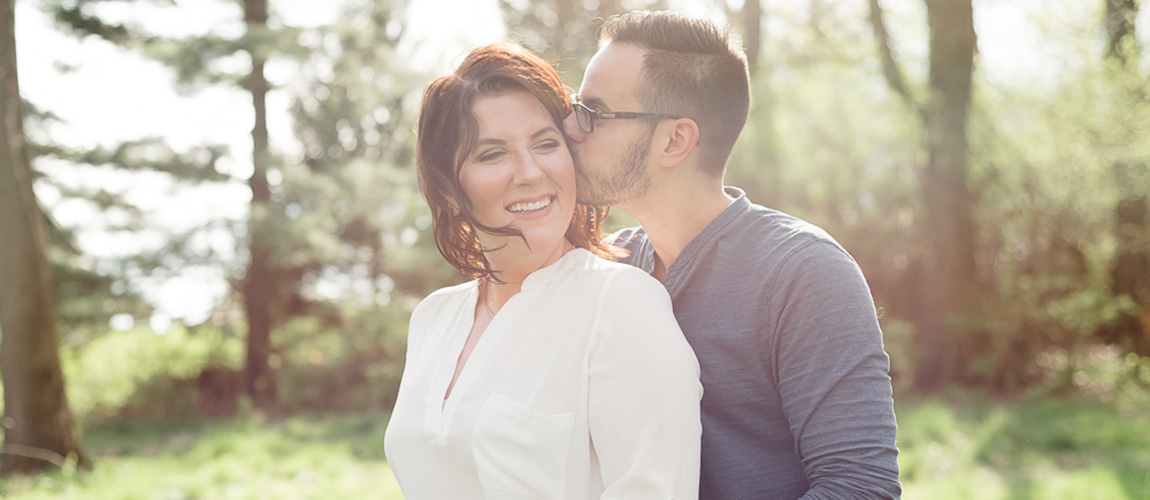 margaux + joey | engaged // fabyan forest preserve engagement session