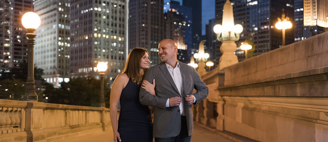 cathy + billy | engaged // chicago riverwalk engagement session