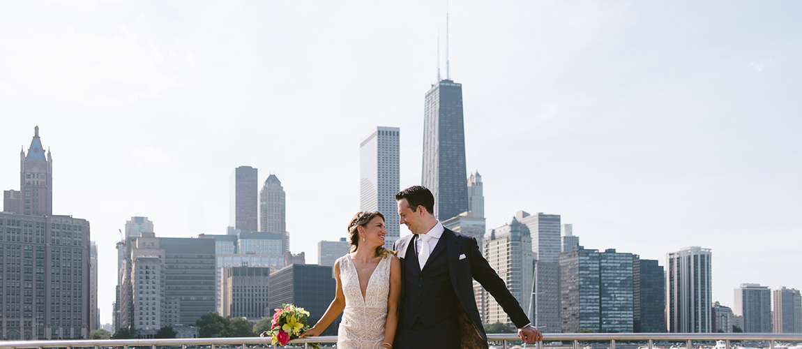 erin + chris | married // ignite glass studios wedding, chicago